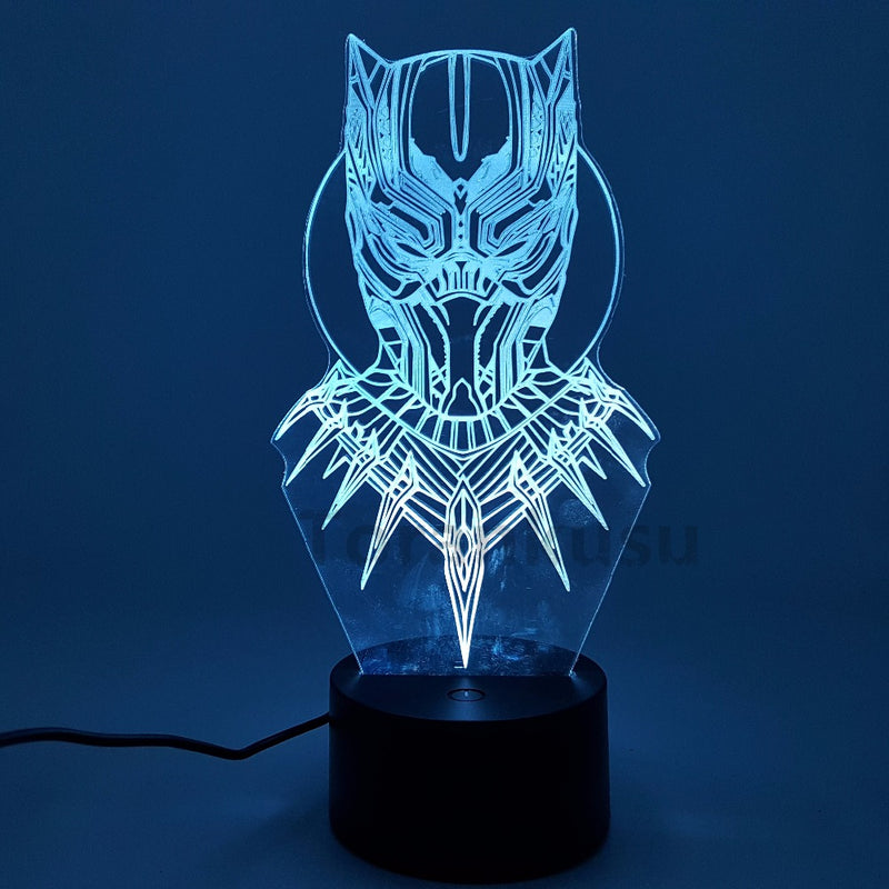 Black Panther Bust 3D LED Night Light Lamp - 3D LED LAMP 3DLightLamps.com