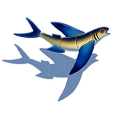 Flying Fish-B FF46/SH (with shadow) Ceramic Mosaic