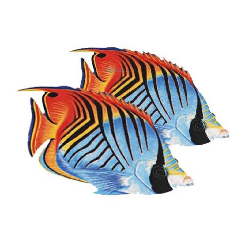 Threadfin Butterflyfish (Double) Porcelain Mosaic