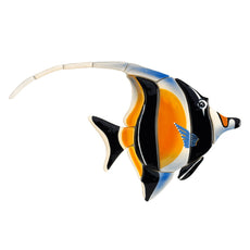 Moorish Idol Reef Fish M55 Ceramic Mosaic