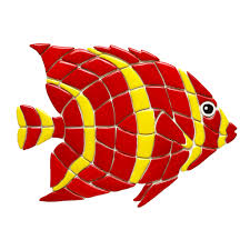 Red Angel Reef Fish RA20-18 Ceramic Mosaic