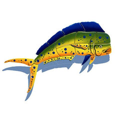 Mahi Mahi-Side View MM13/SH (with shadow) Ceramic Mosaic