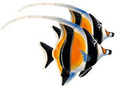 Moorish Idol Double Reef Fish M55D Ceramic Mosaic