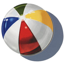 Beach Ball (with shadow) Porcelain Mosaic