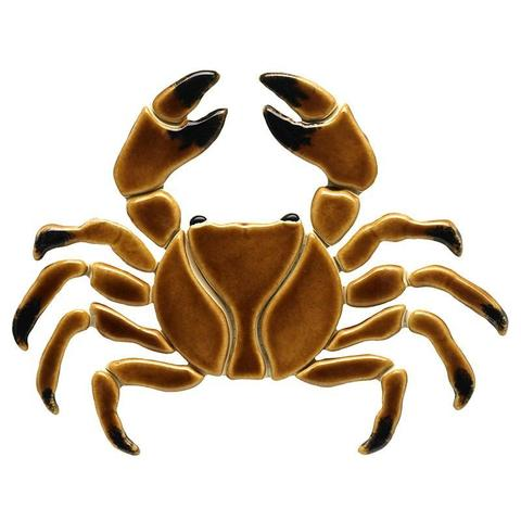 Brown Crab BR32 Sea Life Ceramic Mosaic