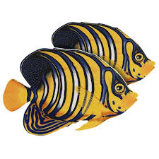 Regal Angelfish (Double) Porcelain Mosaic