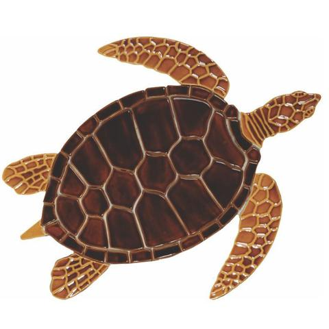 Brown Sea Turtle GT7B Ceramic Mosaic