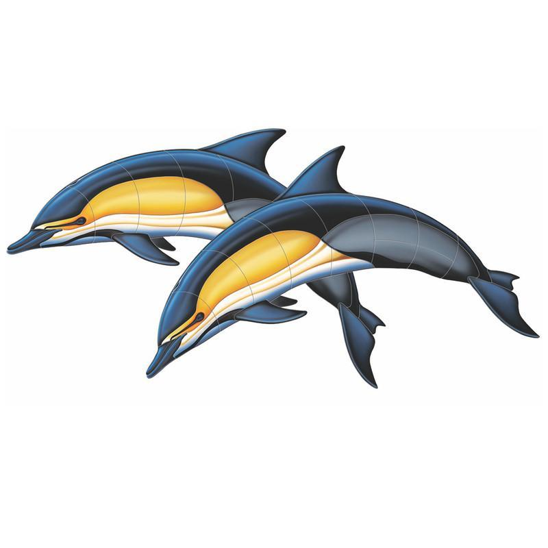 Common Dolphin-A Double Porcelain Mosaic