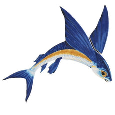 Flying Fish-A Porcelain Mosaic