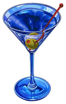 Martini Drink Porcelain Mosaic