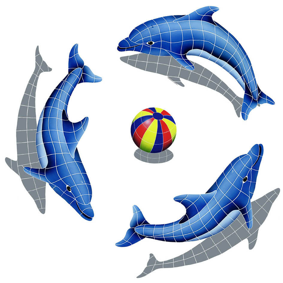 Dolphin Group Shadow Multi Color Ball
