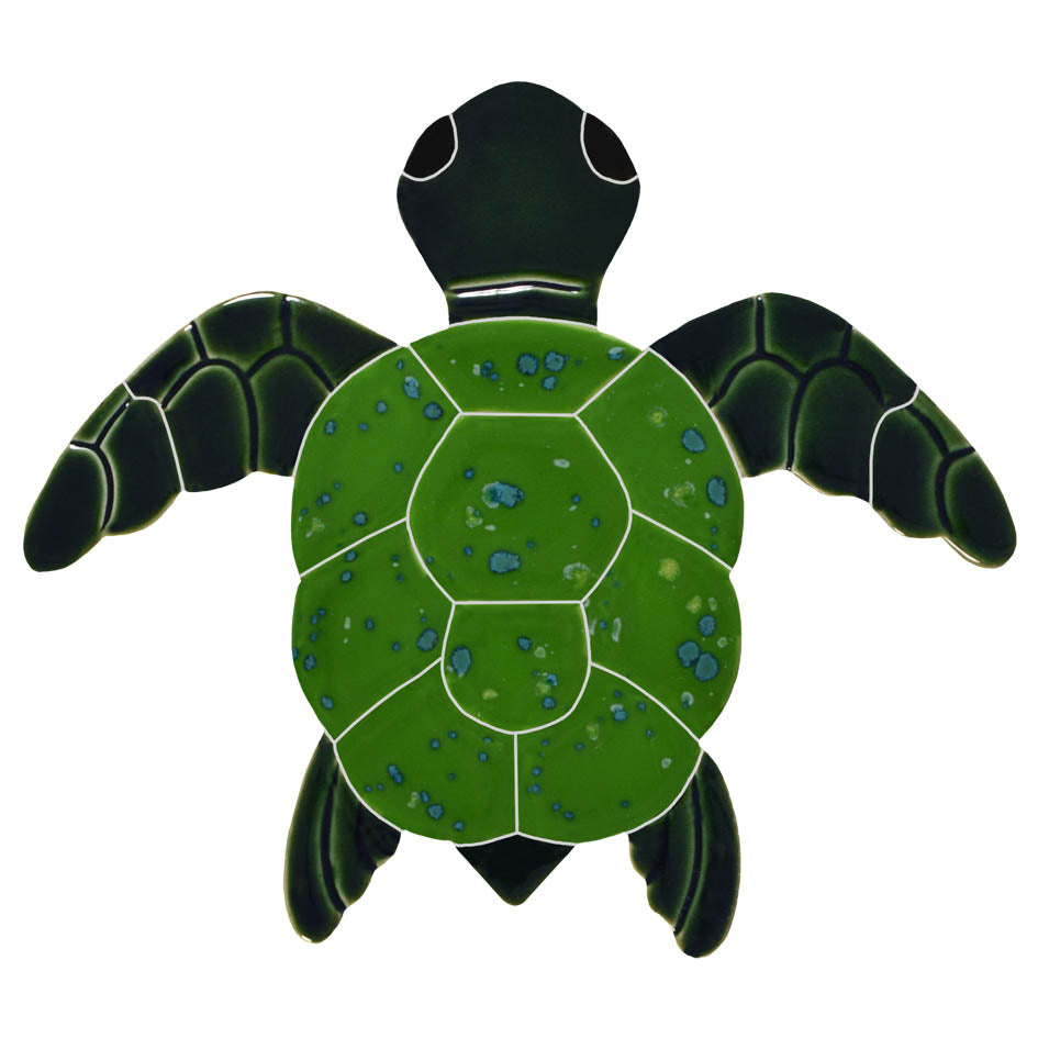 Classic Turtle Topview Green<BR> Click to View Different Sizes