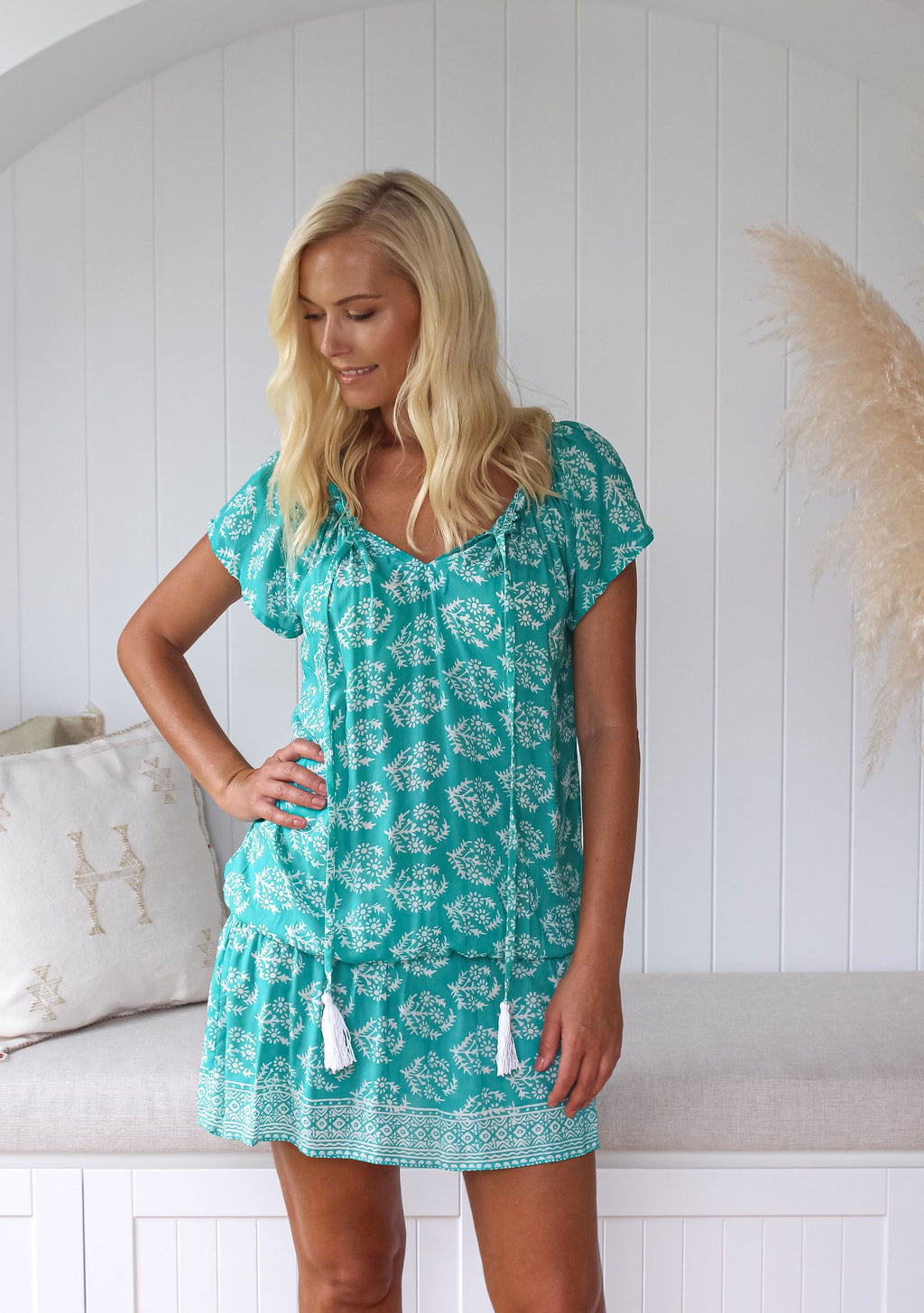 Sumba Tunic, Sea Foam