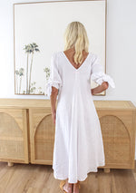 Elora Midi Dress, White