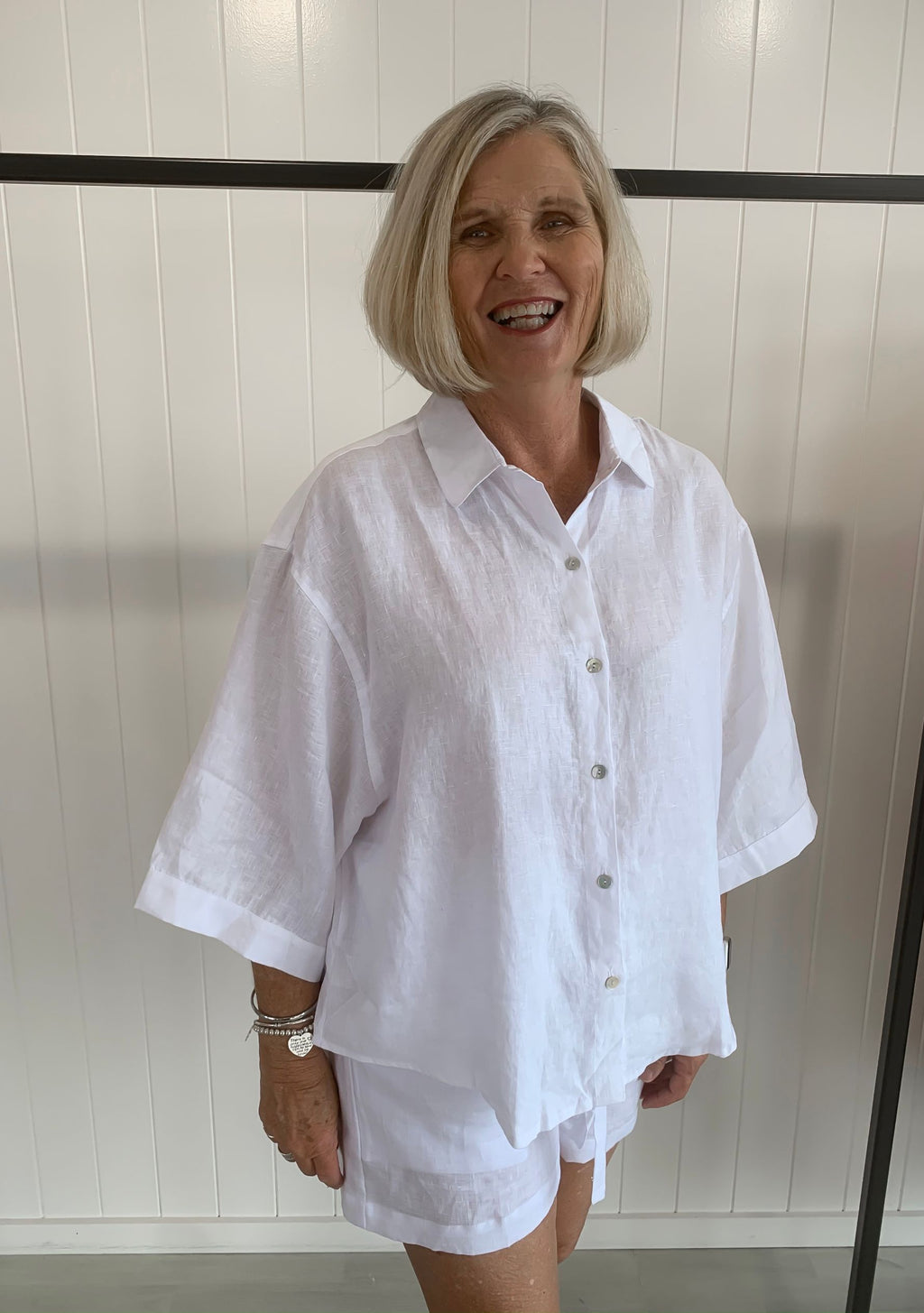 Bonni Linen Shirt, White