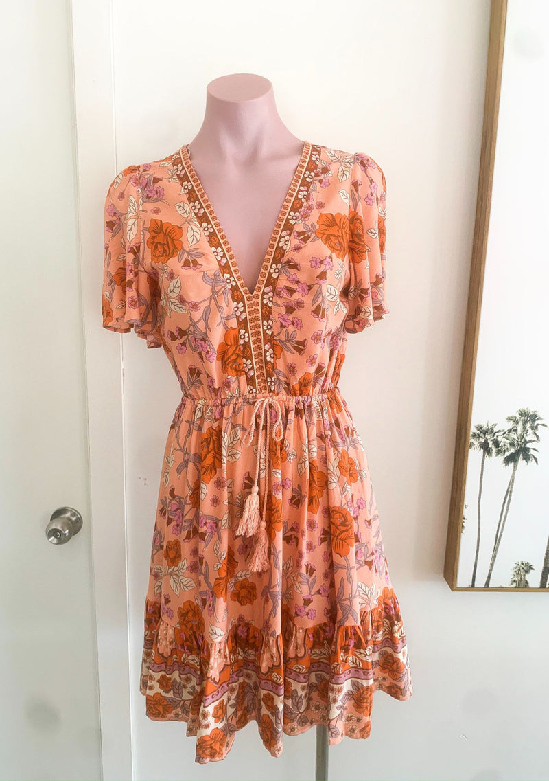 Harmony Mini Dress - Sunrise Pink Floral