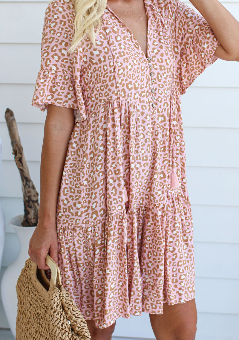 Breeze Baby Doll Dress, Blush Animal