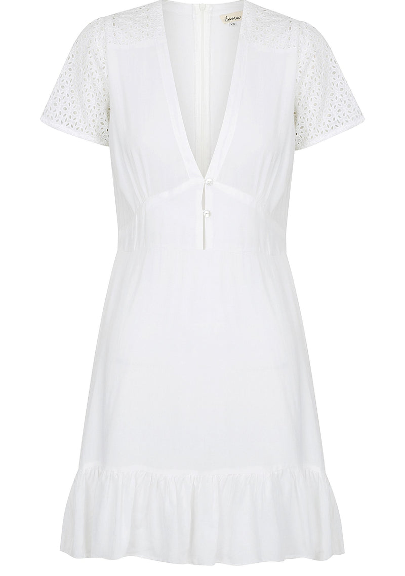 Nora Dress, White Lace