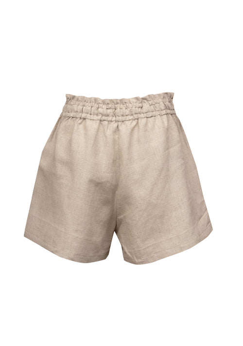Ellie Linen Shorts Natural