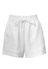 Ellie Linen Shorts White