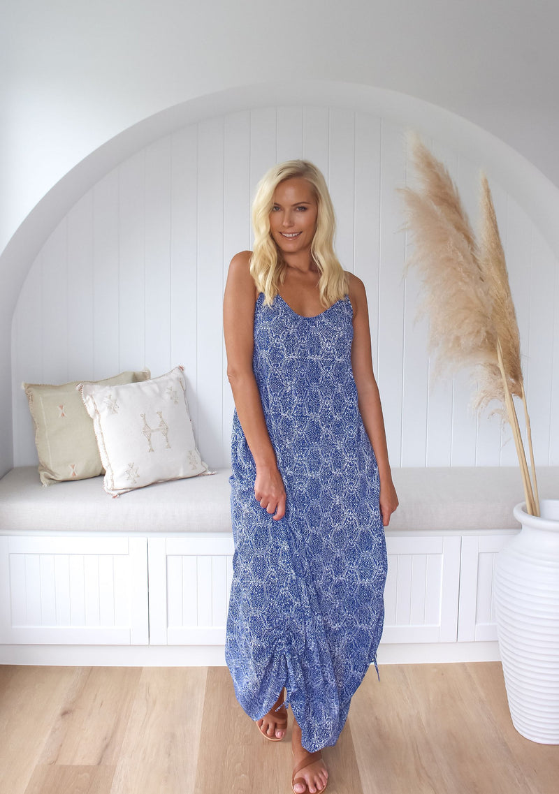 Beach Maxi Dress - Cobalt