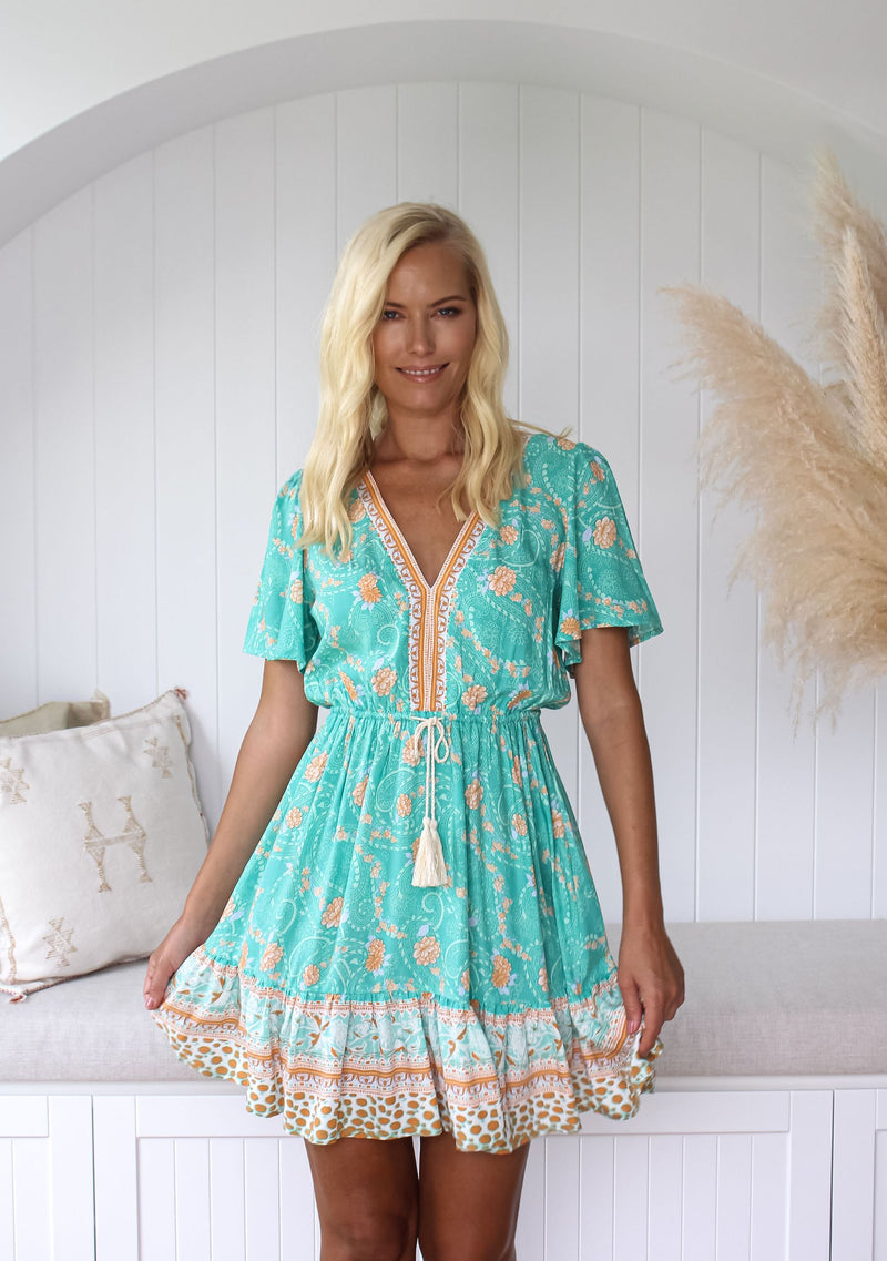 Harmony Mini Dress, Indian Flower