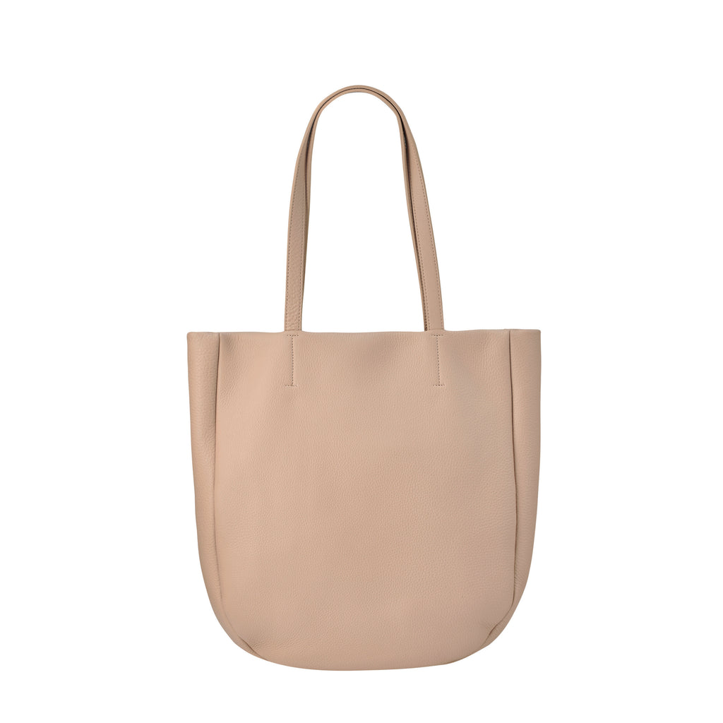 Appointed Large Leather Tote - Dusty Pink