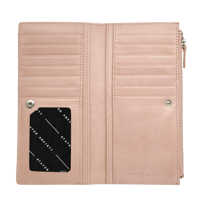 Dakota Leather Wallet - Dusty Pink