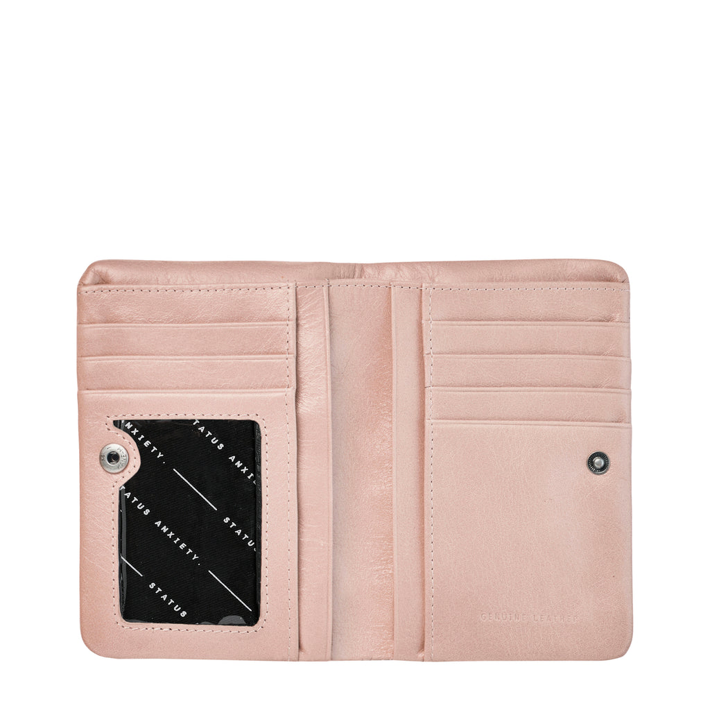 Is Now Better Leather Wallet - Dusty Pink
