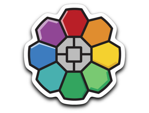 Rainbow Badge Decal