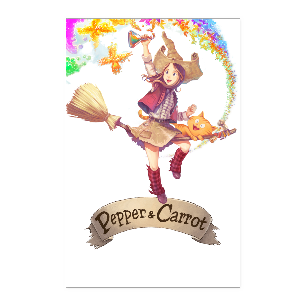 Pepper&Carrot Butterfly Rainbow Poster