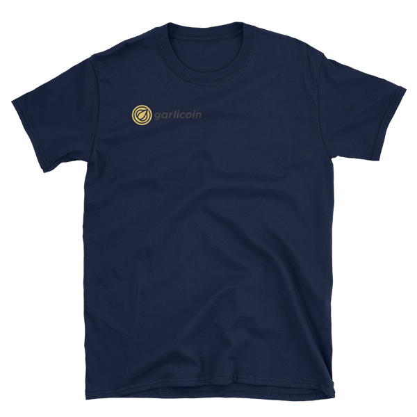 Garlicoin, the Garlic Bread Cryptocurrency Breast Logo T-Shirt