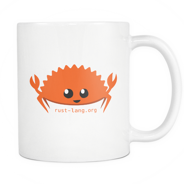 Happy Rustacean 11oz Coffee Mug / Cup