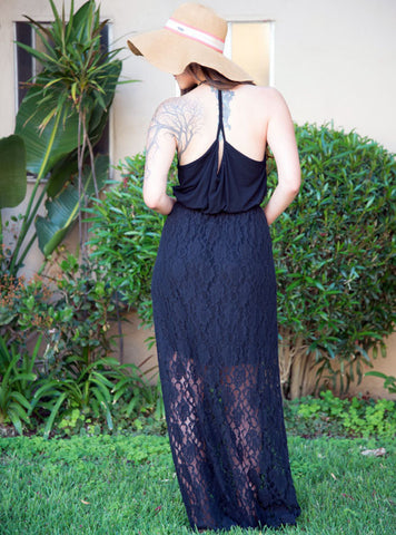 Bohemian Chic Lace Maxi Dress