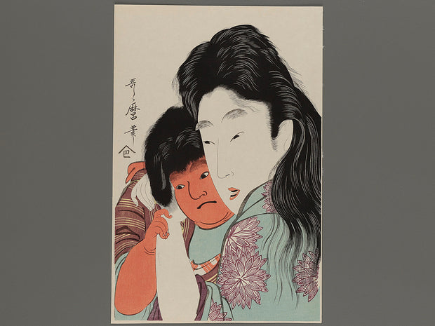 Bijin-ga by Utamaro / BJ222-607