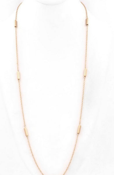 Metal Station Multi-way Gold Long Necklace