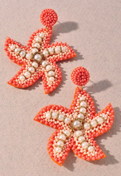 Starfish Beaded Earrings