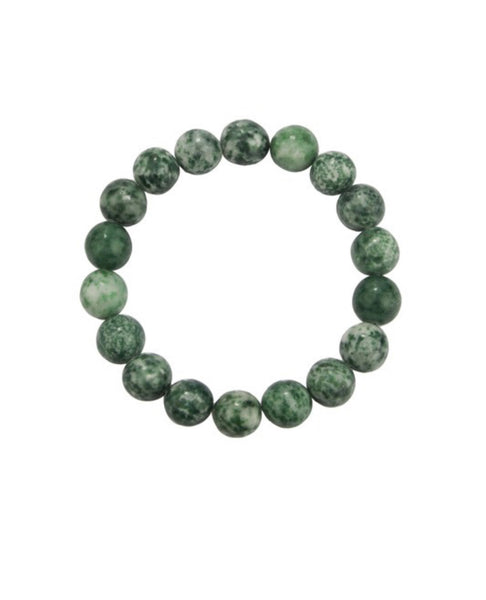 Green Jasper Natural Stone Bracelet 6 or 10mm
