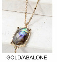 Abalone Shell Gold Layered Necklace