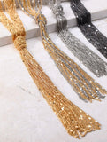 Luxe Multi-Strand Chain with Knot Necklace