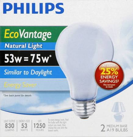 Philips Natural Light 75w Replacement (35w) Bulb 2pk
