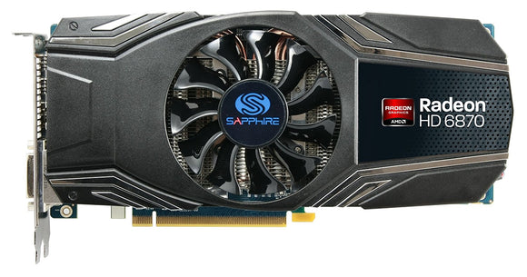 Sapphire Radeon HD 6870 1GB DDR5 GPU DL-DVI-I/SL-DVI-D/HDMI/Dual Mini DP PCI-Express Graphics Card