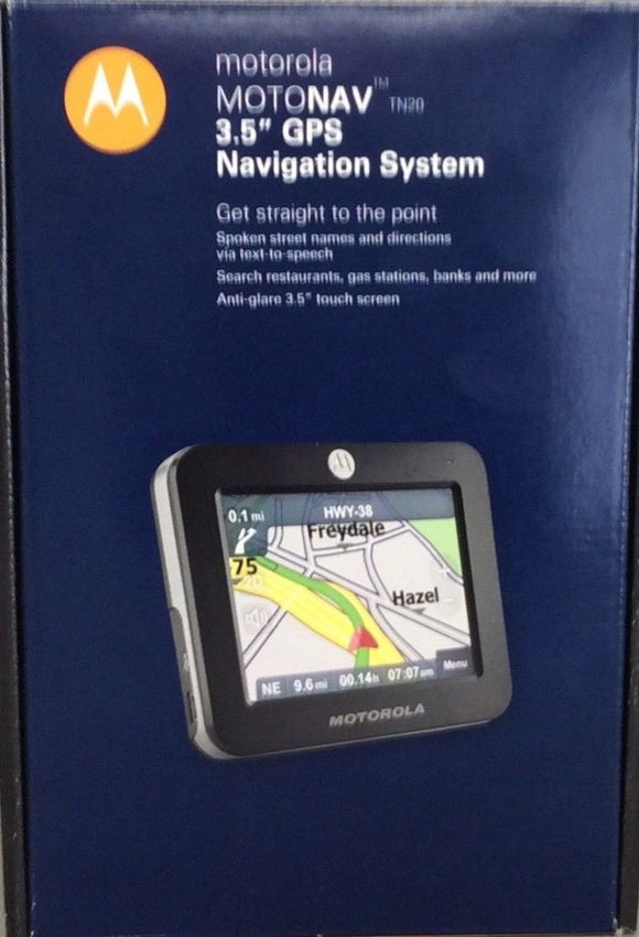 Motorola Motonav TN20 3.5-Inch Portable GPS Navigator Text-To-Speech Anti-Glare
