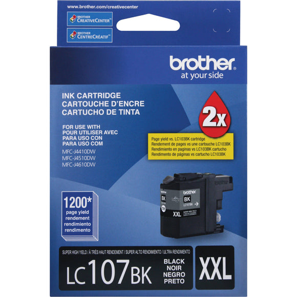 Geniune Brother LC107BK XXL 2X Black Ink Good Tru 1/2019