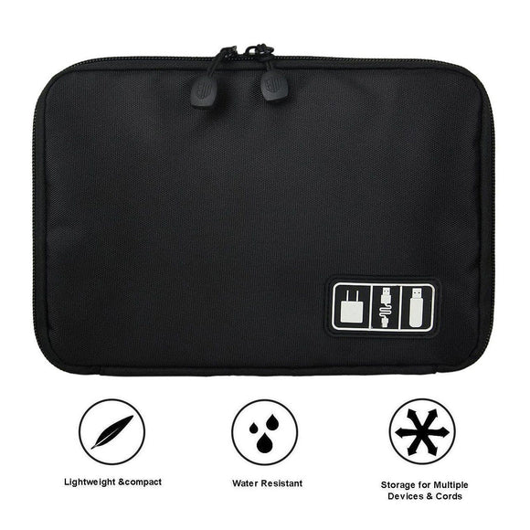 Universal Cable Organizer Bag, Tech Carrying Case