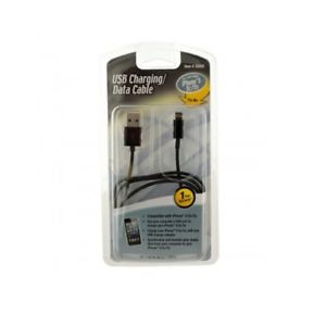 Multi-Charge Charging Cable for iPod, iPhone, iPad 3' 1m Cable Black