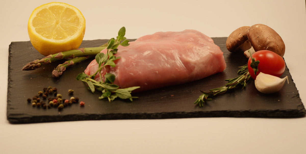 Rable de lapin avec os / Saddle of rabbit with bone - 2.98$/100 g - vendu en +ou- 300g à 400g (environ 8.94$ à 11.92$)