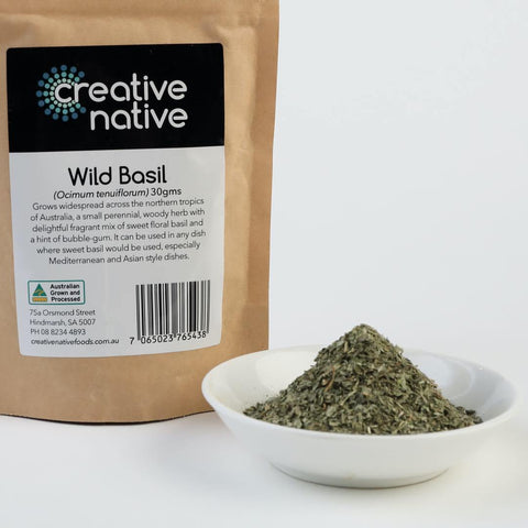 Herbs & Spices - Wild Basil (Dried Flakes)