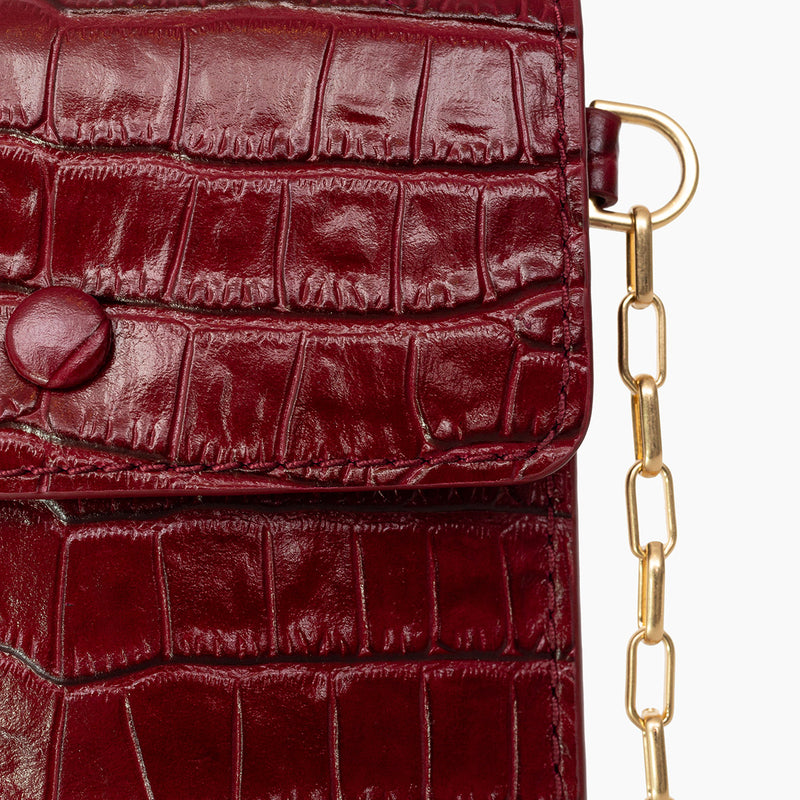 Luci Bag | Tamarillo Croc