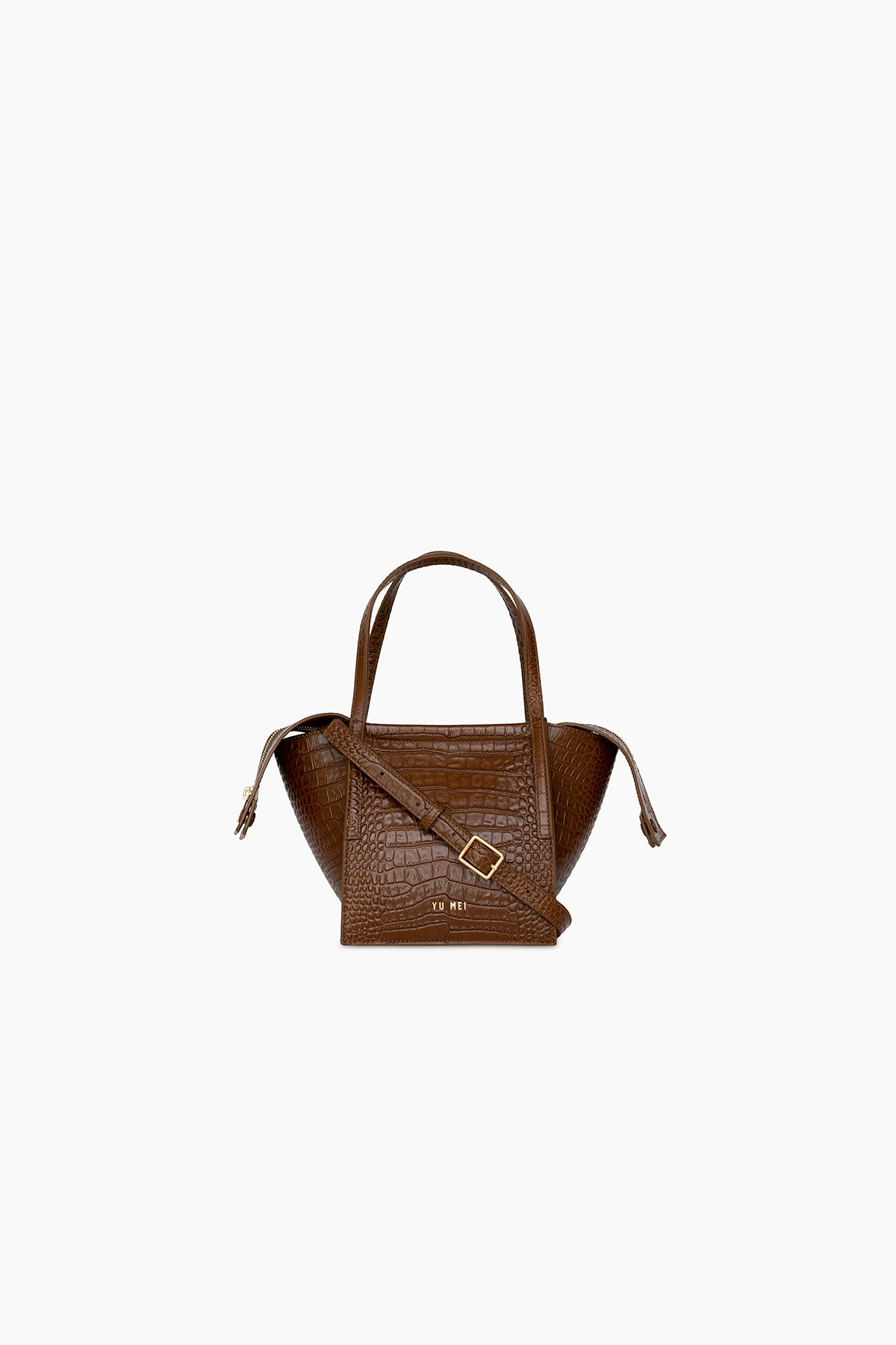 3/4 Milly Bag | Cognac Croc